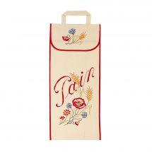 Kit de sac à pain à broder - Luc Créations - Sac à pain - Fleurs