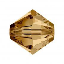 Perles et sequins - Rowan - Paquet de 100 perles Swarovski 4 mm - Light Colorado Topaz