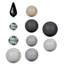 Perles et sequins - Rowan - Paquet de 17 perles Swarovski - Black Pearl Selection