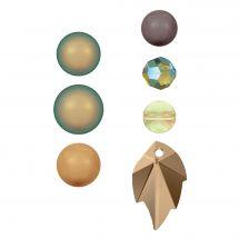 Perles et sequins - Rowan - Paquet de 14 perles Swarovski - Iridescent Selection