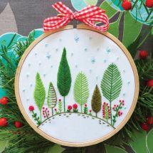 Kit de broderie sur tambour - Tamar Nahir Yanai - Forêt de Noël