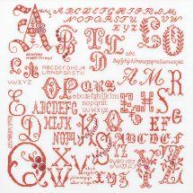 Kit point de croix - Théa Gouverneur - Sampler lettres antiques