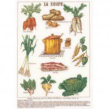 Kit point de croix - Théa Gouverneur - La soupe