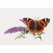 Kit point de croix - Théa Gouverneur - Lilas et papillon