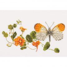 Kit point de croix - Théa Gouverneur - Capucine et papillon
