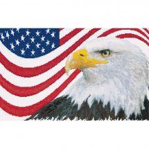 Kit point de croix - Théa Gouverneur - L aigle américain