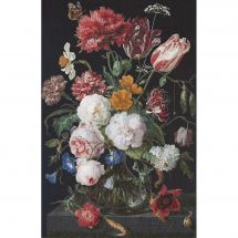 Kit point de croix - Théa Gouverneur - Nature morte fleurs dans un vase