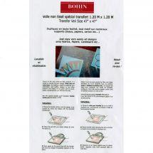 Feuille de transfert - Bohin - Voile non tissé