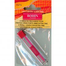 Crayon de marquage - Bohin - Mines rechange roses