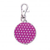 Mètre enrouleur - Bohin - Centimètre couture porte clés fuchsia