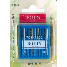 Aiguilles machine à coudre - Bohin - 10 Aiguilles standard 70/80/90