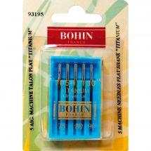 Aiguilles machine à coudre - Bohin - 5 aiguilles titanium 75/80/90