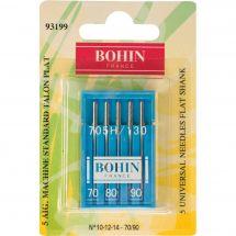 Aiguilles machine à coudre - Bohin - 5 aiguilles standard 70/80/90