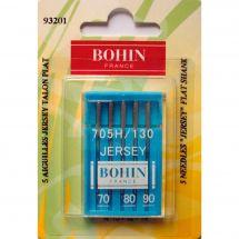 Aiguilles machine à coudre - Bohin - 5 aiguilles jersey 70/80/90