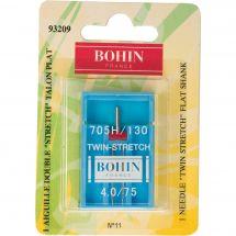 Aiguilles machine à coudre - Bohin - Aiguille double stretch