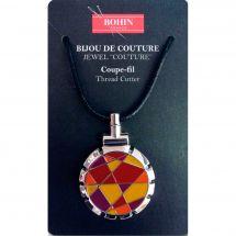 Coupe-fil - Bohin - Pendentif - jaune/rouge-orange