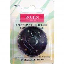 Boutons pression - Bohin - Bouton pression à coudre laiton noir - 40 mm