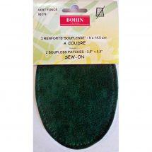 Renforts à coudre - Bohin - Renforts stretch - vert foncé