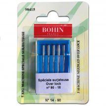 Aiguilles surjeteuse - Bohin - 5 aiguilles over lock n°14-90