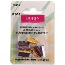 Support bijoux - Bohin - 9 fermetures pour bracelets - 15 mm