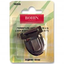 Fermeture pour sac - Bohin - Fermeture cartable 19 mm - argent