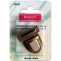 Fermeture pour sac - Bohin - Fermeture cartable 19 mm - bronze