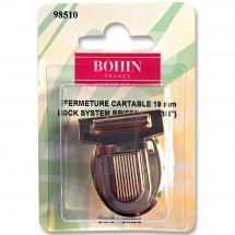 Fermeture pour sac - Bohin - Fermeture cartable 19 mm - doré