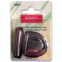 Fermeture pour sac - Bohin - Fermeture cartable 27 mm - argenté