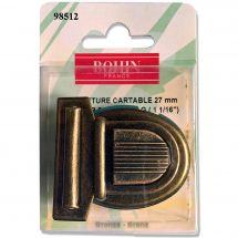 Fermeture pour sac - Bohin - Fermeture cartable 27mm - bronze