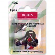 Renforts pour sac - Bohin - 4 patins ronds pour sac + rondelles