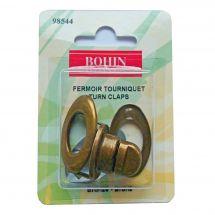 Fermeture pour sac - Bohin - Fermoir tourniquet - bronze