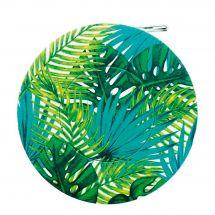 Mètre enrouleur - Bohin - Centimètre couture jungle - Feuillage vert