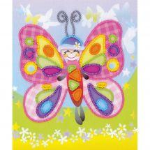 Kit de broderie avec perles - Riolis - Papillon de conte de fées