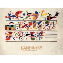 Kit point de croix - Riolis - Succession d'après Kandinsky