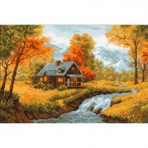 Kit point de croix - Riolis - Vue d'automne