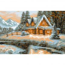 Kit point de croix - Riolis - Vue d'hiver