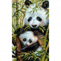 Kit point de croix - Riolis - Maman et bébé panda