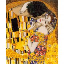 Kit point de croix avec perles - Riolis - Le baiser d'après Klimt