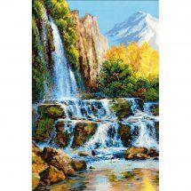 Kit point de croix - Riolis - La cascade