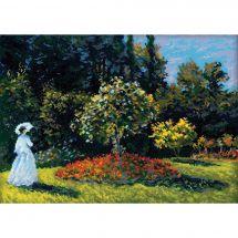 Kit point de croix - Riolis - Femme dans le jardin d'après Claude Monet