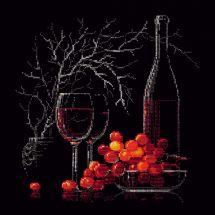 Kit point de croix - Riolis - Nature morte : Le vin rouge