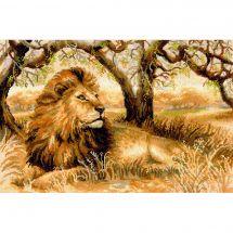 Kit point de croix - Riolis - Le roi des animaux