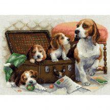 Kit point de croix - Riolis - Famille de chiens
