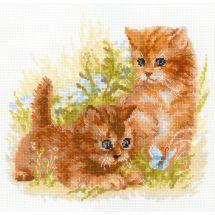 Kit point de croix - Riolis - Les chatons