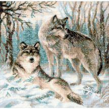 Kit point de croix - Riolis - Les loups