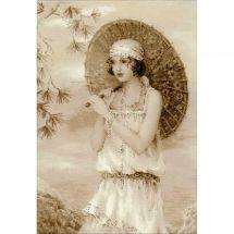 Kit point de croix - Riolis - Femme à l'ombrelle