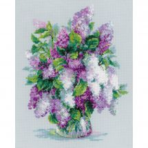 Kit point de croix - Riolis - Bouquet de lilas