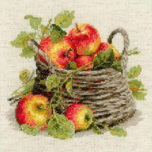 Kit point de croix - Riolis - Panier de pommes