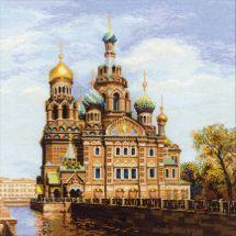 Kit point de croix - Riolis - St Petersbourg - Eglise