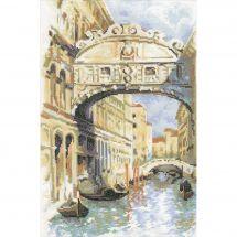 Kit point de croix - Riolis - Venise, le pont des soupirs